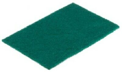 4x RS Pro HEAVY DUTY SCOURING PADS 228x152x7mm 10Pcs For Industrial Use GREEN