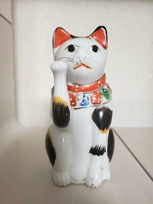Beckoning cat Maneki neko Meiji period Vintage Japan tradition Rare Old F/S EMS