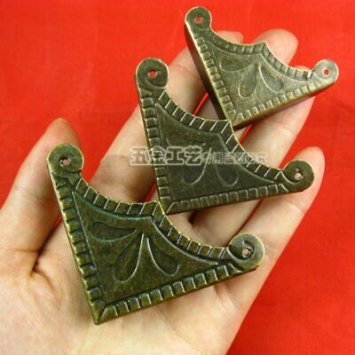 12pc Multi Size Antique Bronze Corner For Jewelry Luggage Decor Box Wooden Case