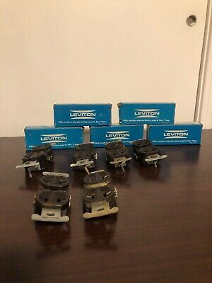 Leviton Duplex Receptacle 15A-125V 2 Pole 3 Wire Grounding Brown Used