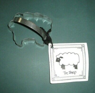 Ann Clark SHEEP Tin Plated Steel Cookie Cutter W/Recipe Card  USA