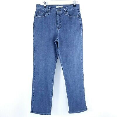 Lee Relaxed Fit Womens Jeans Size 10 M Straight Medium Wash Blue Denim Stretchy