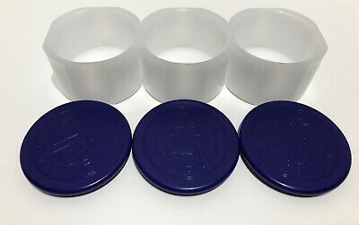 (Lot of 3) Empty 5 oz Silver ATB Coin Tubes White with Blue Lid / Top