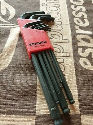 10 Piece Bondhus 15850 1.5mm Hex Tip Key L-Wrench with ProGuard Finish