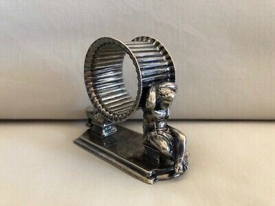 Antique Figural Silver Napkin Ring Holder Philip Ashbury & Sons