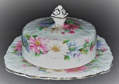Royal Stafford Daisy Chain Bone China Small Covered Butter Dish Excellent Cond