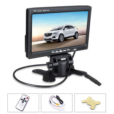 7'' TFT LCD Color Screen Car Monitor For CCTV Reversing Rearview Backup Camera