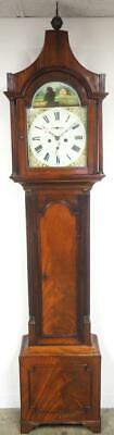Antique Grandfather Clock English 8 Day Striking Pagoda Top Longcase Clock C1800
