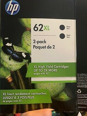 hp 62xl Black ink cartridge - 2pack