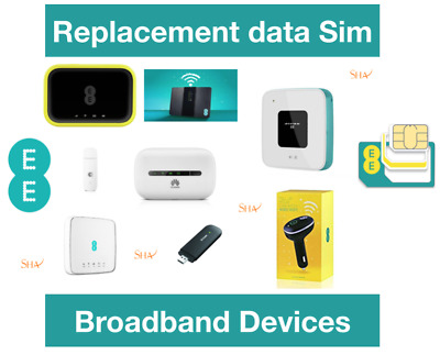 EE Mobile broadband data loaded Sim card for all EE internet devices 60GB