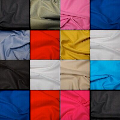 100% Cotton Canvas Superior Plain Solid Fabric Craft 260gsm Material 146cm Wide.