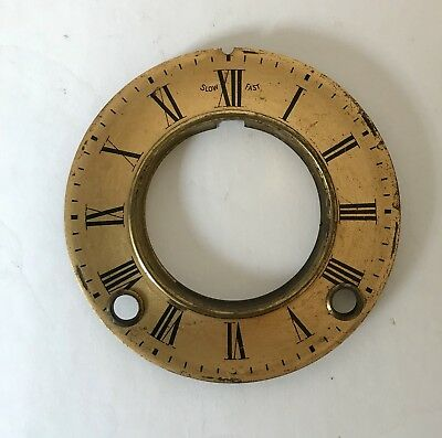 Gilded Brass Antique Clock Dial
