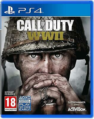 Call of Duty: WWII PS4 (Sony PlayStation 4, 2017) Brand New - Region Free