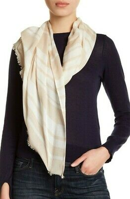 NWT - kate spade new york - cape stripe oblong scarf - light beige - $88