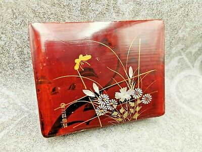 Antique Chinese IMPERIAL Gilt Namiki Lacquer china TRINKET BOX wood