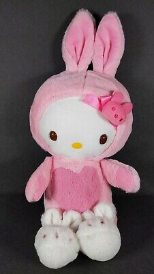 Sanrio Hello Kitty Pink White Bunny Costume Easter Plush stuffed toy butterfly