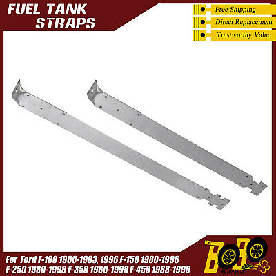 Fuel Tank Strap Set For 80-97 F-Series For 16 Gallons 26.75 in 28.5 in Leng