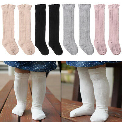 Baby Boys Girls Infant Knee High Stockings Leg Warmer Cotton Long Stockings