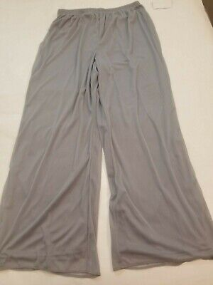 R&M Richards Women's Gray Pull-On Palazzo Trouser Pants 14w