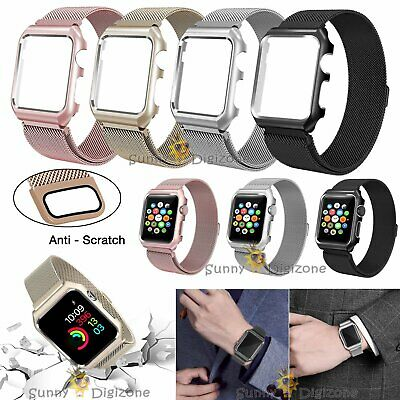 For Apple Watch Series 1/2/3 42/38mm Milanese Loop Strap Magnetic Stainless Band