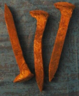 """Antique Vintage RAILROAD SPIKES, 6"""" to 6.5"""" Train Track Nails LOT OF 20"""
