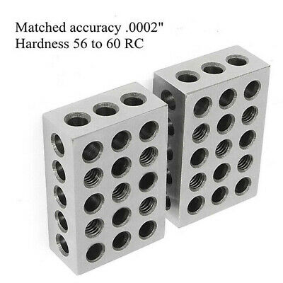 1x2x3in Block Ultra Precision .0002in Ground Hardened Milling Tool Replacement