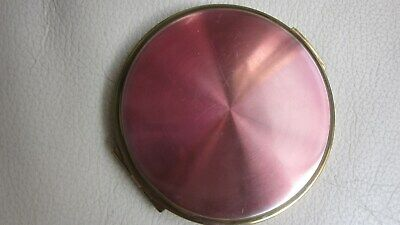 Volupte 1950,s orig.powder compact with pink enamelling .7cmx7cm.