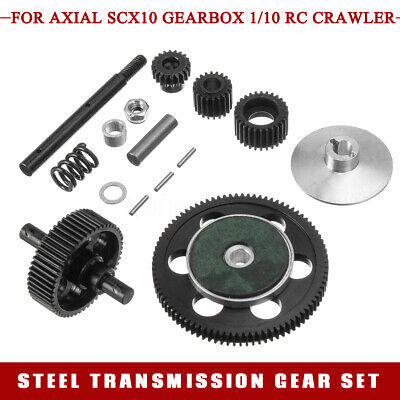 Steel Metal Transmission Gears Set for Gearbox Axial SCX10 1/10 RC Crawler Parts