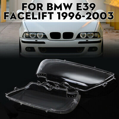 Headlight Lens Cover Clear Head Lamp Shell for BMW E39 Facelift 1996-2003