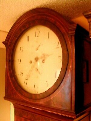 Absolute Bargain Super Quality Figured Mahogany And Inlaid Scottish Longcase Tlc