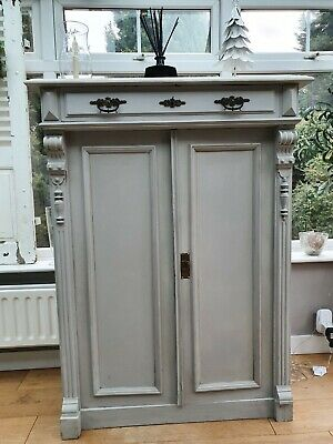 French Armoire Antique Cupboard Painted