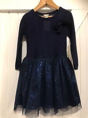 Girls Monsoon Age 3-4 Years Dress Blue Sparkly Sequin Detail Twirly Skirt
