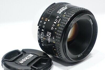 Nikon Nikkor AF 50mm 1:1.8 lens m/i Japan, fits D600 D7100 Df D800 D7200 camera