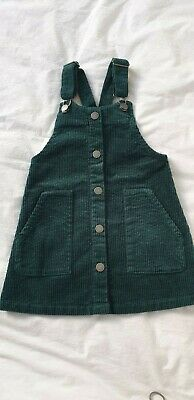 Girls Next Cord Pinafore Dress. 5 Years. BNWT in Green Colour