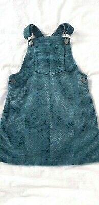 Girls Next Cord Pinafore Dress. 4-5 Years. BNWT in Teal Colour
