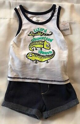NEW Boys Size 12-18 Months Gymboree Outfit Catch The Waves Tank Top /& Shorts NWT