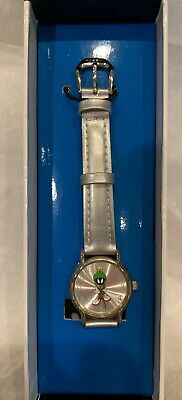 Marvin the Martian Watch Warner Bros Store Silver Leather Band Vintage 1998 RARE
