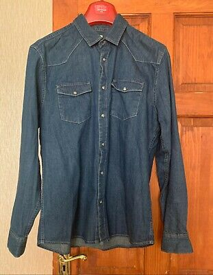 Mens Boys Blue denim Shirt Large Matalan Brand - Excellent condition