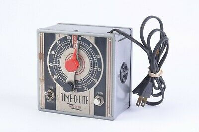 Exc+ Time-O-Lite M-49 Darkroom Industrial Enlarging Timer, Clean, Tested