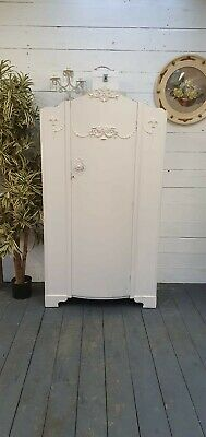 Pretty Vintage Painted French Deco Wardrobe Shabby Chic CAN ARRANGE COURIER