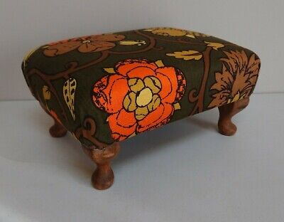 Sherbourne wooden foot stool Seat Chair step vintage Ben Wardle upholstery retro