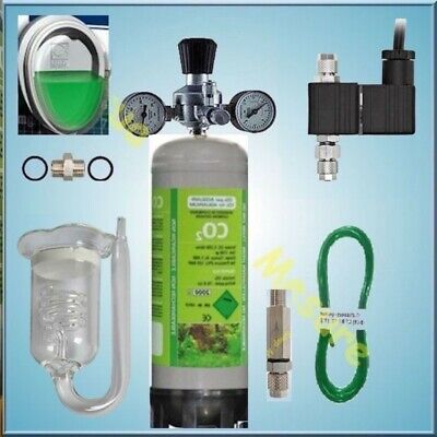 Kit CO2 450L bouteille jetable 1,100Kg avec testeur permanent co2 JBL d'Aquarium