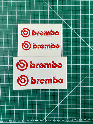 Stickers brembo lot de 4 autocollants étrier de frein voiture brake decal vinyl