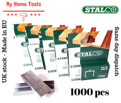 1000 PCS 6mm-14mm STAPLES 53A Pack Duty Gun Tacker Staple Upholstery Galvanised