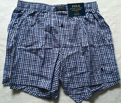 Polo Ralph Lauren Men's Jefferson Plaid Patterned Boxers Classic Fit Medium NWT