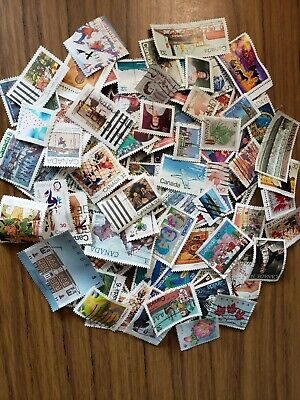 110 fine used Canadian stamps. dollar price, good selection, discount shipping!