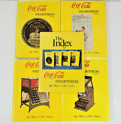 Coca Cola Collectibles Books Vol. I, II, III, IV and Index by Goldstein Lot of 5