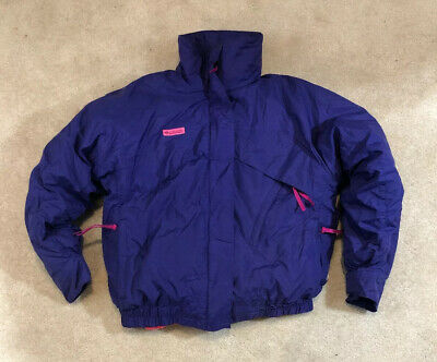 COLUMBIA Whirlibird 4 in1 VTG BOMBER COAT PUFFER DOWN FILLED SKI JACKET SZ L