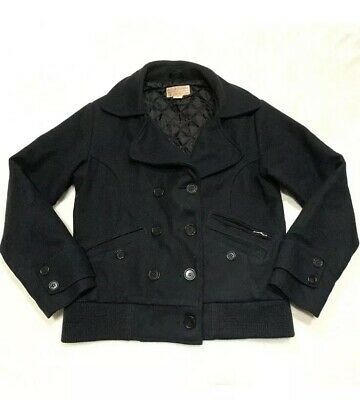 NWT Falls Creek Women/'s Wool Peacoat Warm Winter Coat Jacket Black//Gray S M 3XL