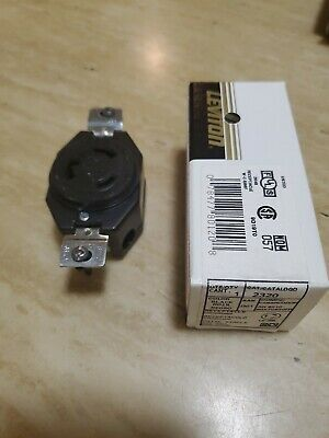 Leviton 70620 20A 250V Hubbell 2320 Style Locking Receptacle L6-20R, New Lot 10